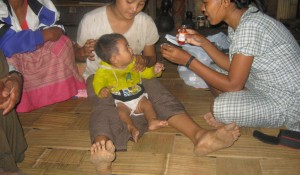 Milk and supplies for IDP family with HIV-affected baby