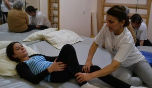 Physiotherapy Session for a disabled In-patient