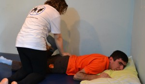Physiotherapy Session for a Disabled Outpatient