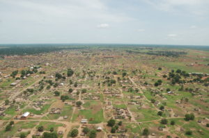 A view of Wau Diocese from the air. Photo: Diocese of Wau Website.