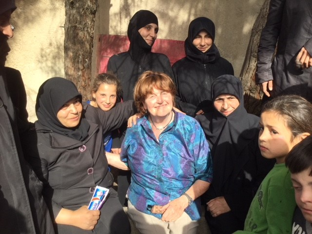 Meeting internally displaced people from East Ghouta