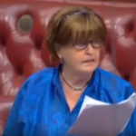 Baroness Cox receives an answer to her question on the UK government's aid provisions to returning refugees in Burma.